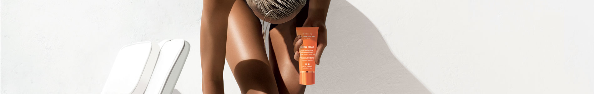 crème solaire, autobronzant, soins solaires esthederm